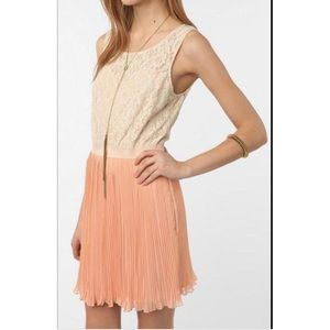 Urban Outfitters lace and pleated dress